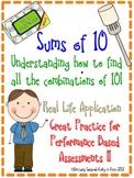Sums of 10- Understanding the Combinations of Ten 1.0A.6