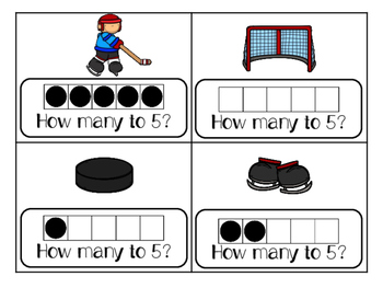 Sums of 5 Write the Room  Hockey Theme