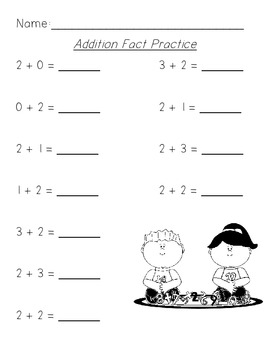 Sums of Five Addition Practice