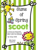 Sums of Spring Scoot - Kindergarten Common Core-Aligned Adding Sums Within 5