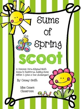 Sums of Spring Scoot - Kindergarten Common Core-Aligned Ad