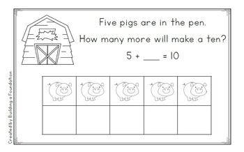 Sums of Ten: Pigs in the Pen