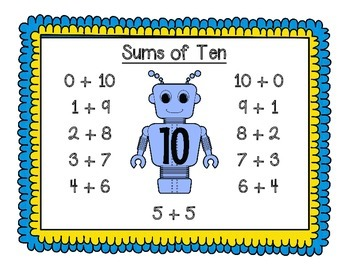 Sums of Ten - Ten Facts - Addition