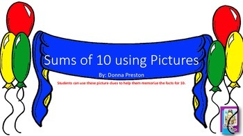 Sums of Ten Using Picture clues