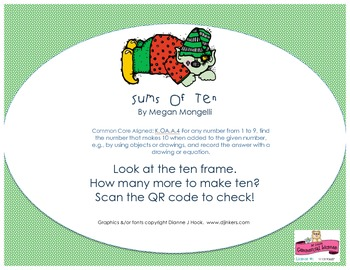 Sums of Ten with QR Codes