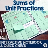 Sums of Unit Fractions Interactive Notebook Activity & Qui