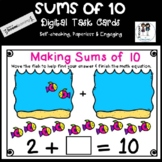 Sums to 10 BOOM digital task cards (Distance Learning)