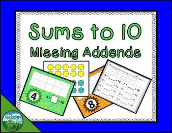 Sums to 10 - Missing Addends
