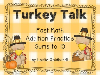 Sums to 10 - Turkey Talk Addition to 10