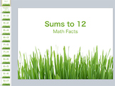 Sums to 12 Math Facts (mixed)