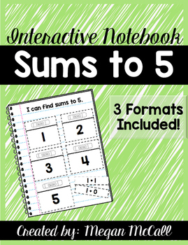 Sums to 5 Interactive Notebook