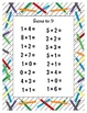 Sums to 9 Printable Worksheets - 11 Different Work Sheets