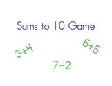 Sums to Ten Game