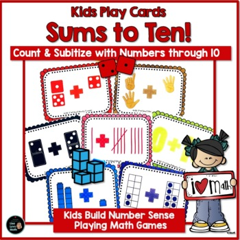Math Centers, Addition, Subitizing:  Sums to Ten!