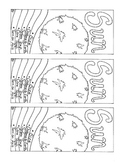 Sun Bookmark Solar System PDF Printable Coloring Page