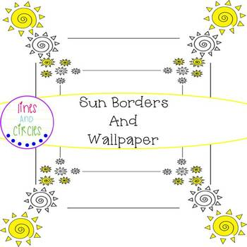 Sun Borders and Wallpapers