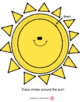 Sun Circle Tracer - crossing Midline / Brain Gym