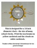 Sun Clock Labels Freebie