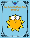 Sun Color By Music Note Rhythm Coloring BUNDLE