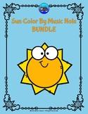 Sun Color By Music Note Rhythm Coloring BUNDLE