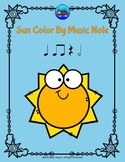 Sun Color By Music Note Rhythm Coloring - Half Notes