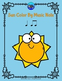 Sun Color By Music Note Rhythm Coloring - Quarter Note, Eighth Notes