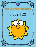 Sun Color By Music Note Rhythm Coloring - Sixteenth Notes