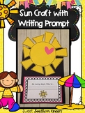 Sun Craft with Writing Prompt : Weather Activities : Spring Crafts:Summer Crafts