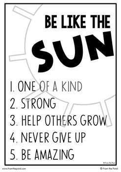 Sun Craftivity {Be Like the Sun}
