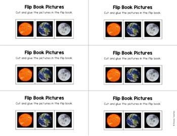 Sun, Earth, Moon Flip Book