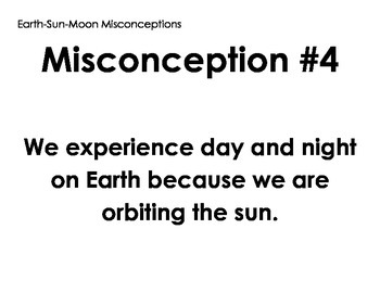 Sun-Earth-Moon Misconception Posters - Debate - Discussion - Assessment