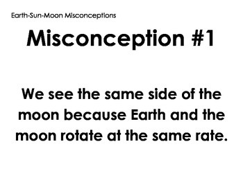 Sun-Earth-Moon Misconception Posters - Debate - Discussion