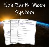 Sun Earth Moon System Web Quests (Lunar & Solar Eclipses a