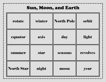 Sun, Earth, and Moon Cycles Review