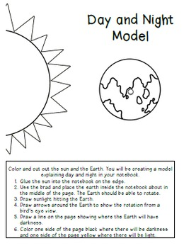 Sun, Earth, and Moon Interactive Notebook