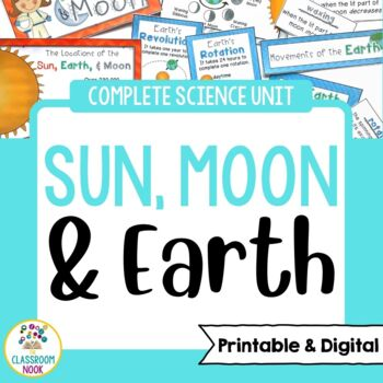 Earth And Moon Google Classroom Compatible