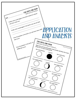 Sun, Earth, and Moon Worksheets
