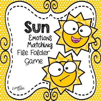 Sun Emotions Matching File Folder Game