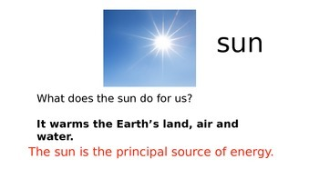 Sun, Energy, and Weather