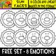 Sun Faces - Cliparts set - 16 Items #Free Set