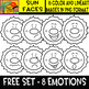 Sun Faces - Cliparts set - 16 Items #Free Set