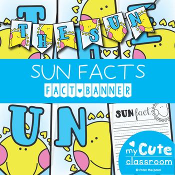 Sun Facts Banner {Bunting, Garland, Pennant Display}