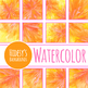 Sun Flowers Handpainted Watercolor Digital Papers / Patterns / Backgrounds