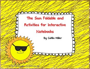 Sun Foldable and Activities for Interactive Notebooks