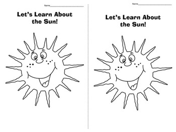 Sun Interactive Video Scribe Lesson + Notebook Pages