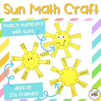 Sun Math Craft  {counting, addition, subtraction & missing addend}