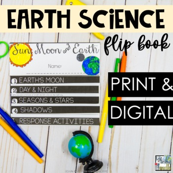 Sun, Moon, Earth 5th Grade Science Flip Book - NGSS Aligned
