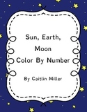 Sun Moon Earth Color By Number