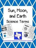 Sun, Moon, Earth Vocabulary
