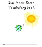 Sun Moon Earth Vocabulary Booklet